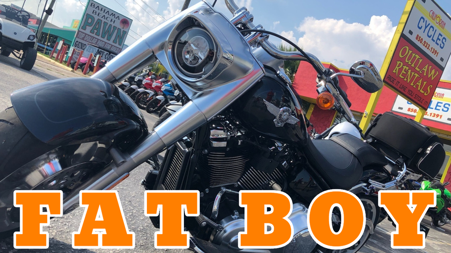 Rent Harley Davidson - Harley Davidson Fat Boy 114 Motorcycle Rental in Panama City Beach - Outlaw Rentals