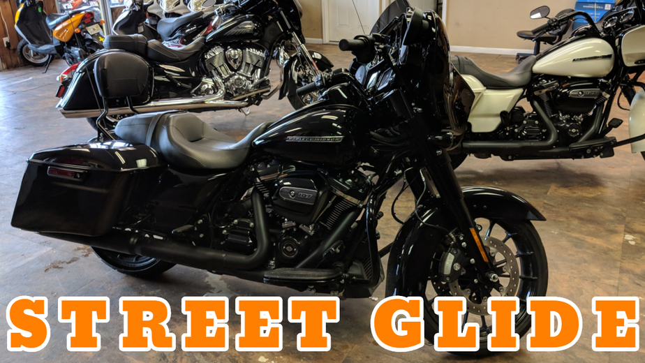 Harley Davidson Street Glide Black-White Motorcycle Rentals in Panama City Beach
