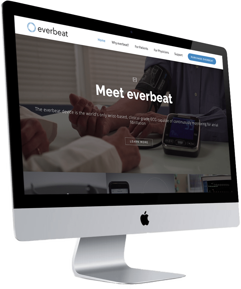 everbeat healthy watch - web design by J Media Group