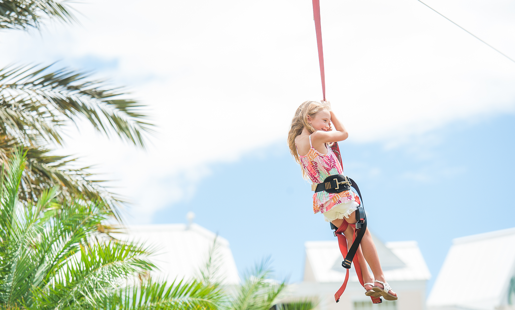Little Girl on Zipline