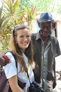 Beekeeper_Gustave_with_Hope_for_Haiti_Deputy_Country_Director_Paula_Prince
