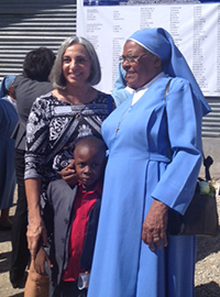 Founder & Chair JoAnne Kuehner with School Director Sister Gisele.