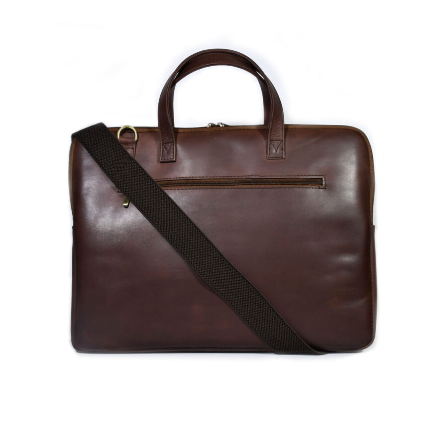 Tanner Brown Leather Briefcase
