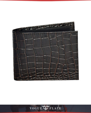 Brown Crocodile Billfold
