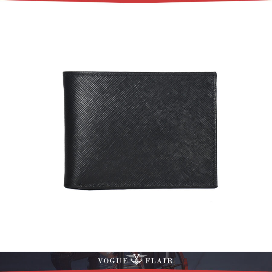 Black Saffiano Leather Billfold