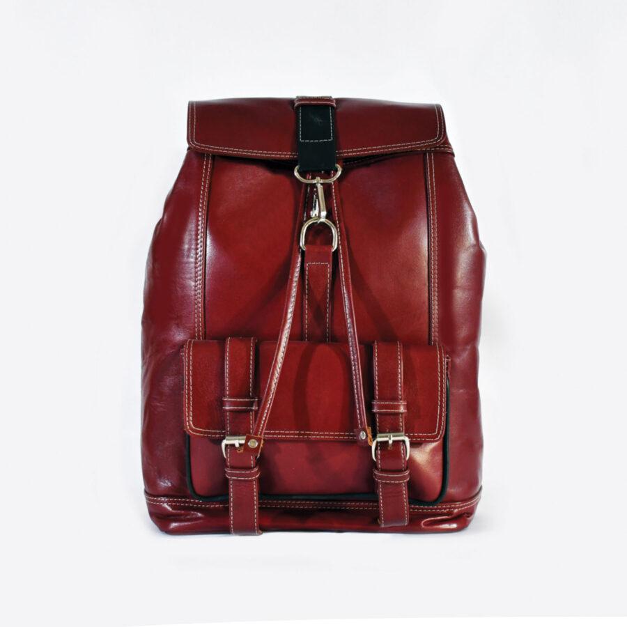 Maroon Origin Leather Bacpack