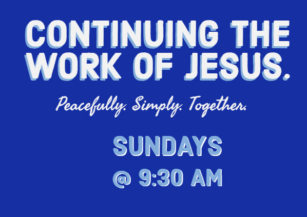 Continuing the work of Jesus