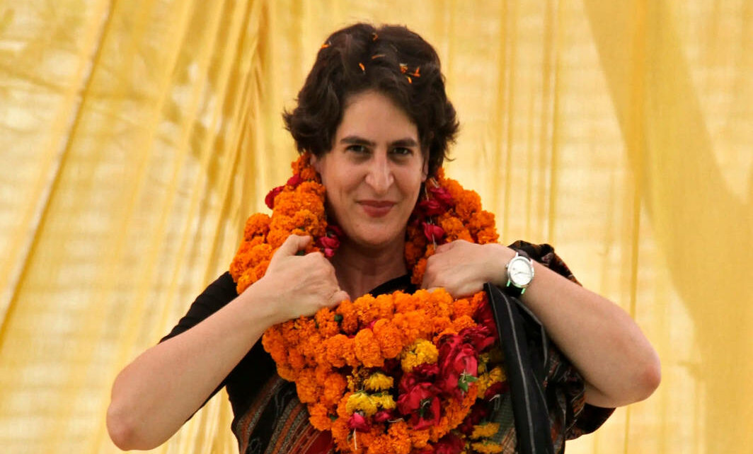Priyanka Gandhi Vadra during the campaigning