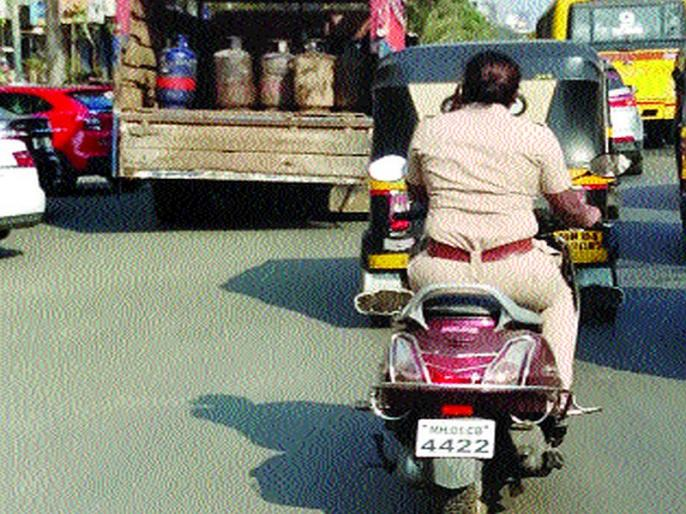 Violation of Traffic rules by Police officer