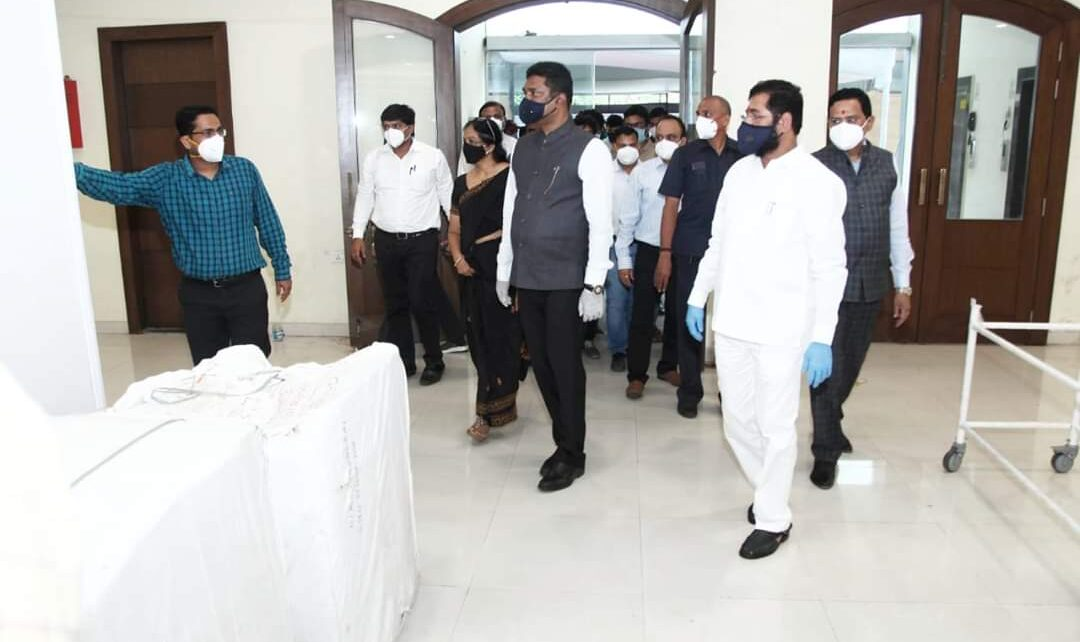 Eknath Shinde Visited MBMC Headquarters