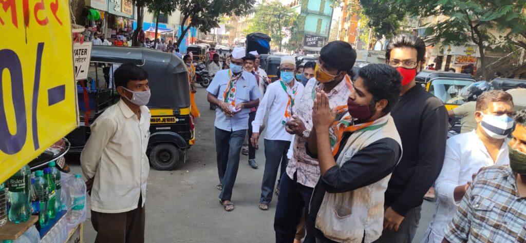 Youth Congress Requesting to shut a shops for Bharat Bandh protest