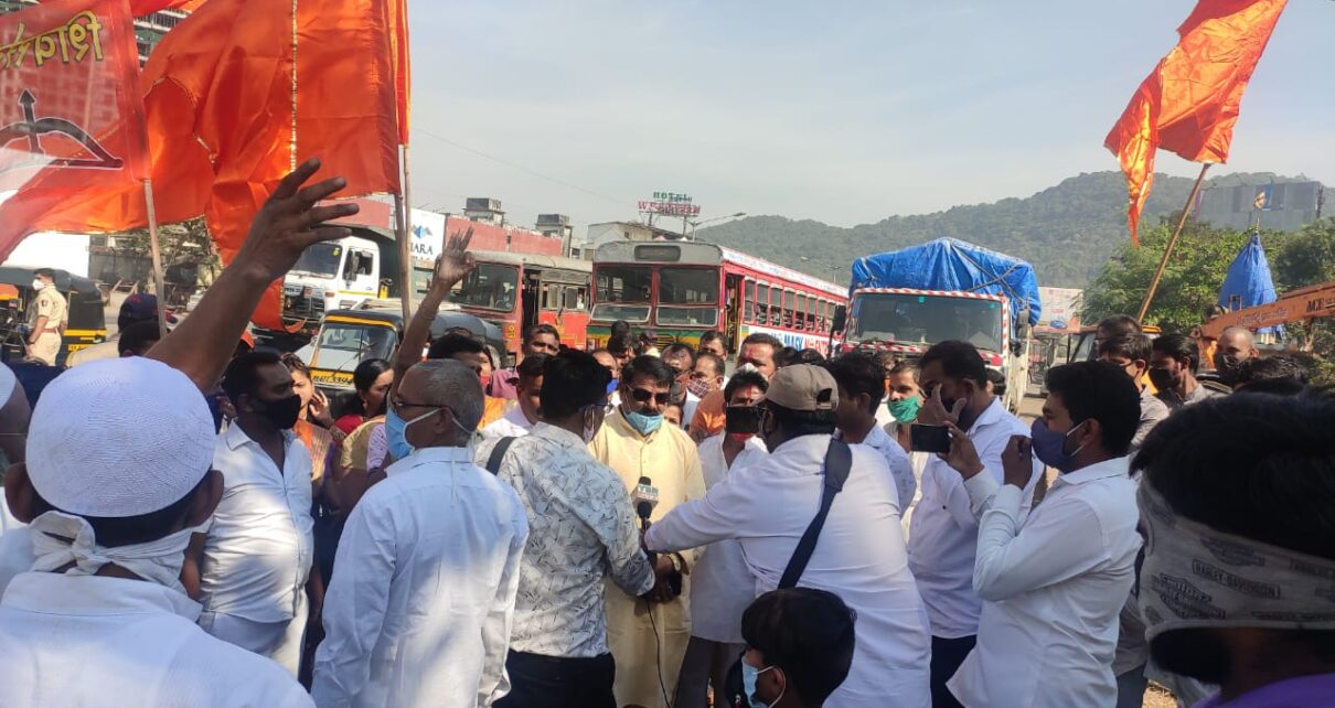 Bharat Band Protest in Mira Bhayandar