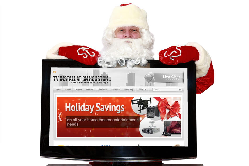 tv installation houston christmas