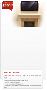 FIREPLACE TV WALL MOUNTING INSTALLATION