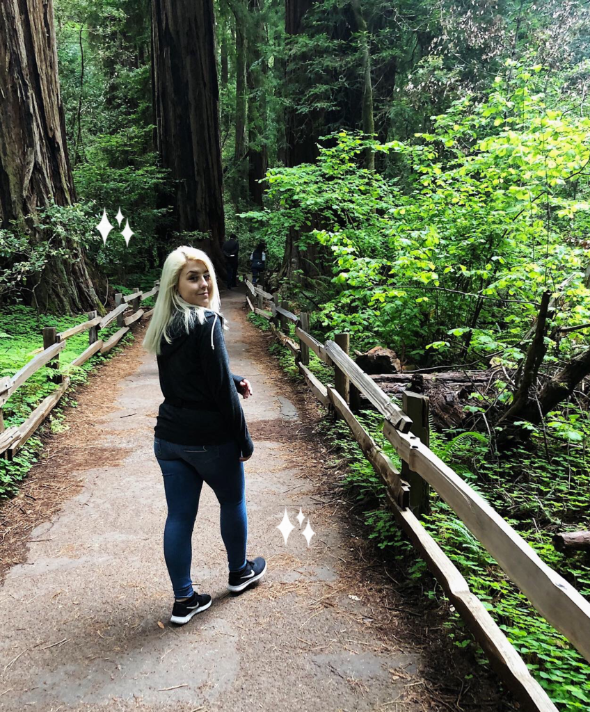 kayla shay in the muir woods