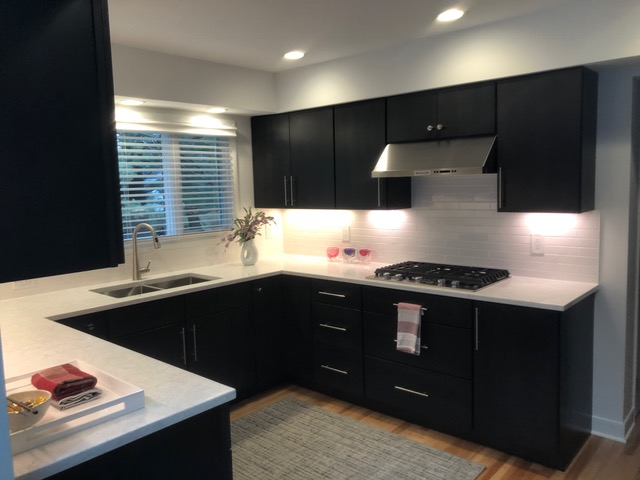 Black Cabinets - Kitchen Design - Gerome's Kitchen And Bath
