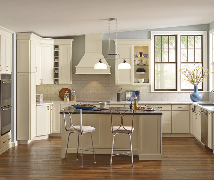 Kemper Cabinets - Soft White Transitional Shaker - Gerome's Kitchen And Bath