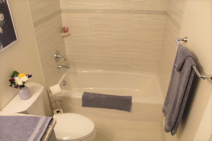 Guest Bathroom - Tile Work - Chesterland Bath Remodel - Gerome's Kitchen And Bath