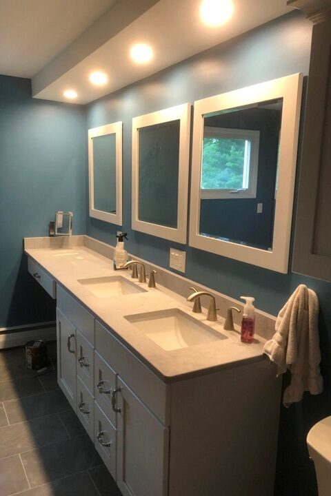 Lighted Bathroom Vanity With Mirrors - Broadview Heights - Geromes Kitchen And Bath