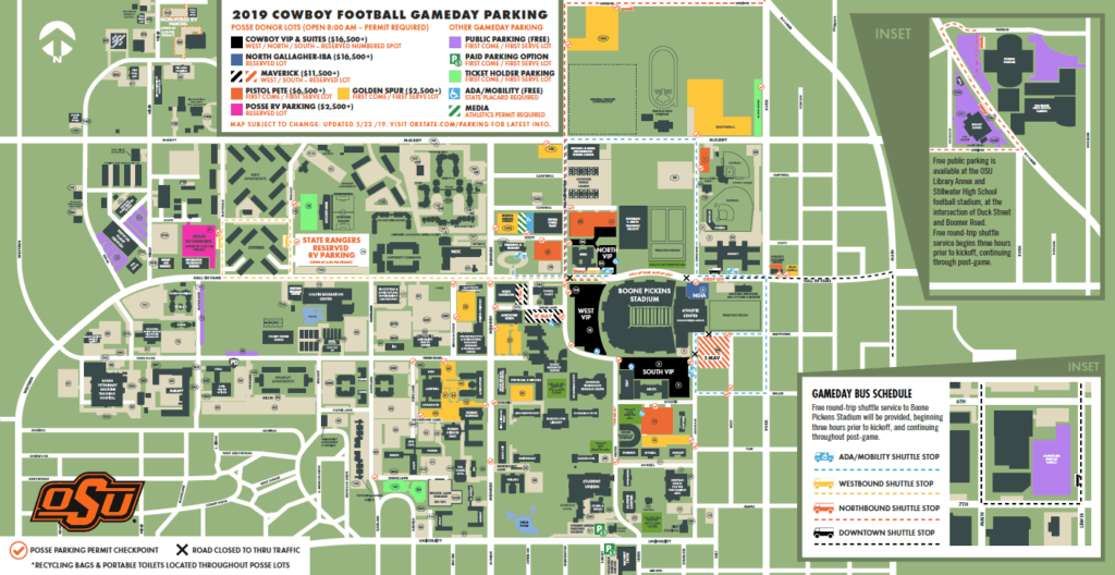 OSU Campus Parking Map