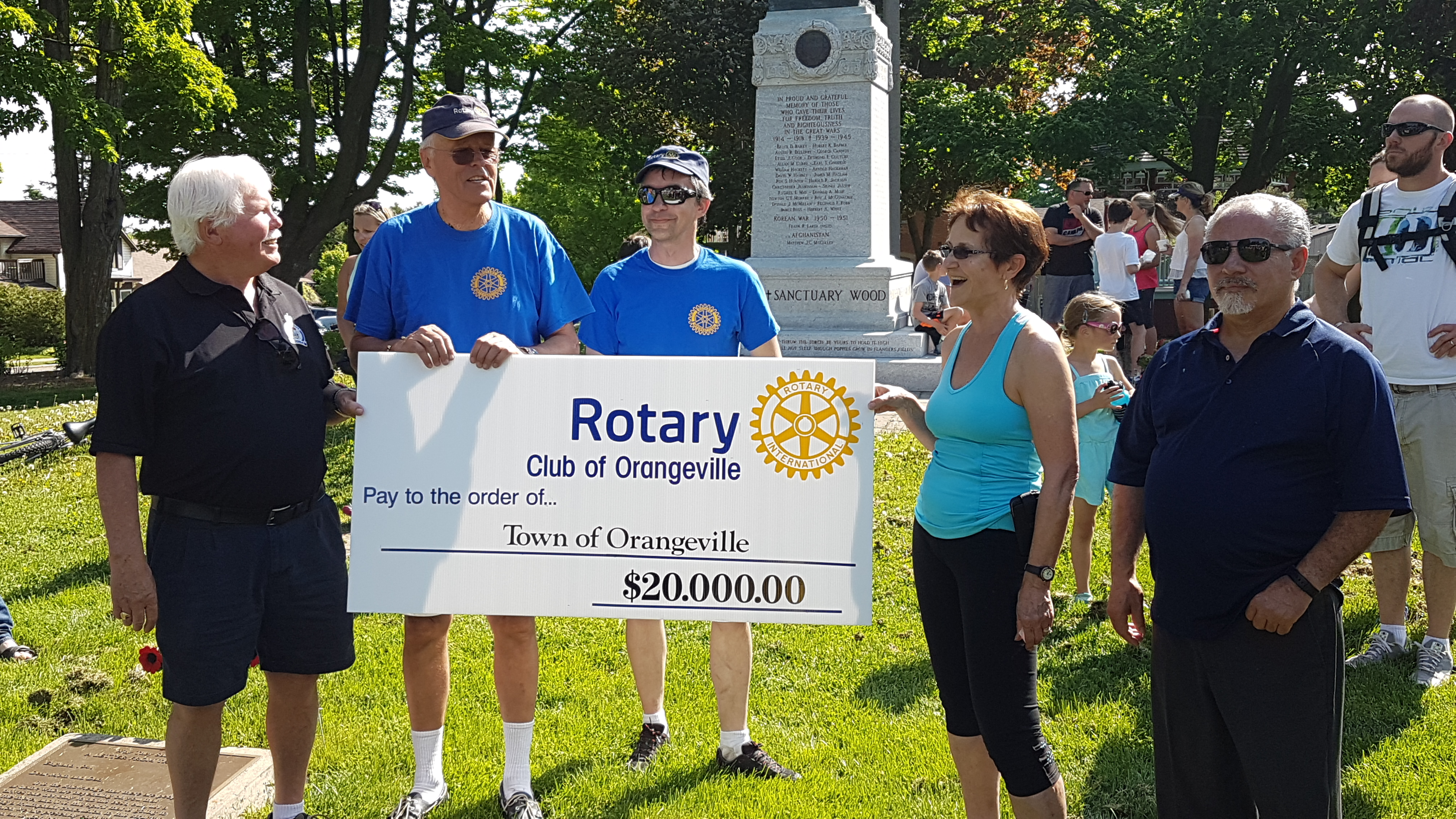 Rotary Way Cheque Presentation