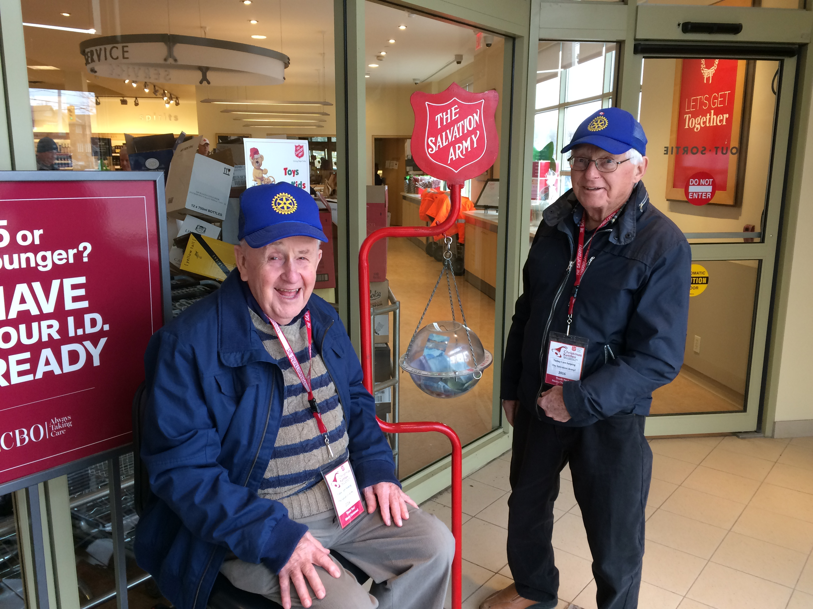 Collecting for the Salvation Army