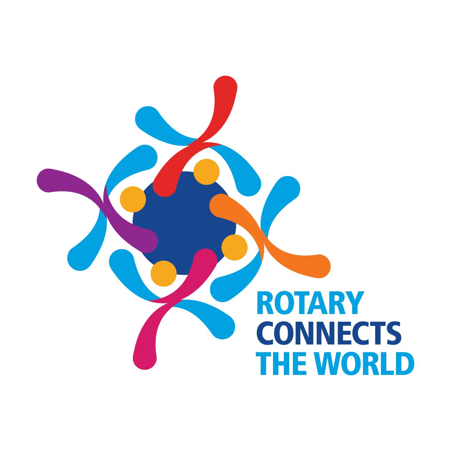 2019 Theme logo: Rotary Connects the World