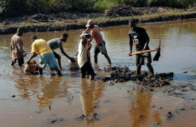 Haiti Fish Pond Build