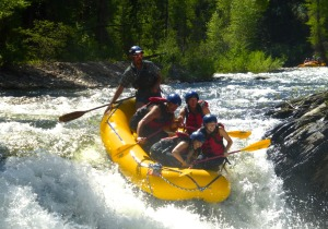Rafting down the Roaring Fork river