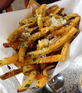 Ajax Tavern's truffle parmesan fries.