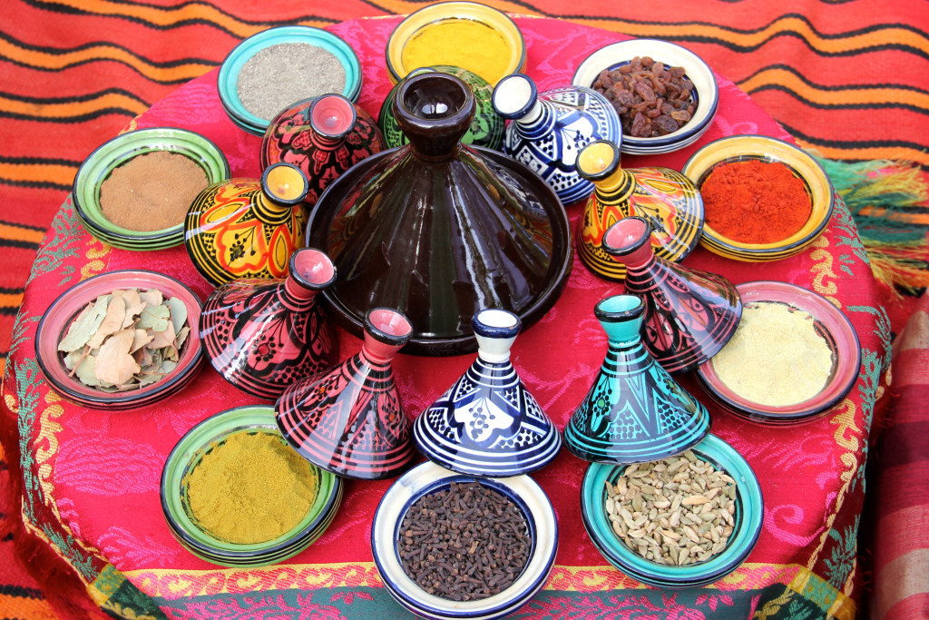 We were introduced to the spices used in typical Moroccan cuisine.