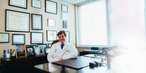 Doctor sitting in his office