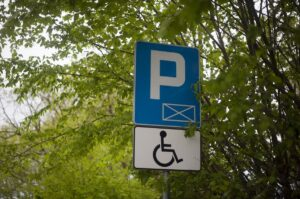 Disabled Parking - wheelchair only disabled parking sign