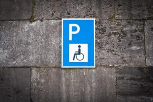 Disabled Parking - handicap parking signpost
