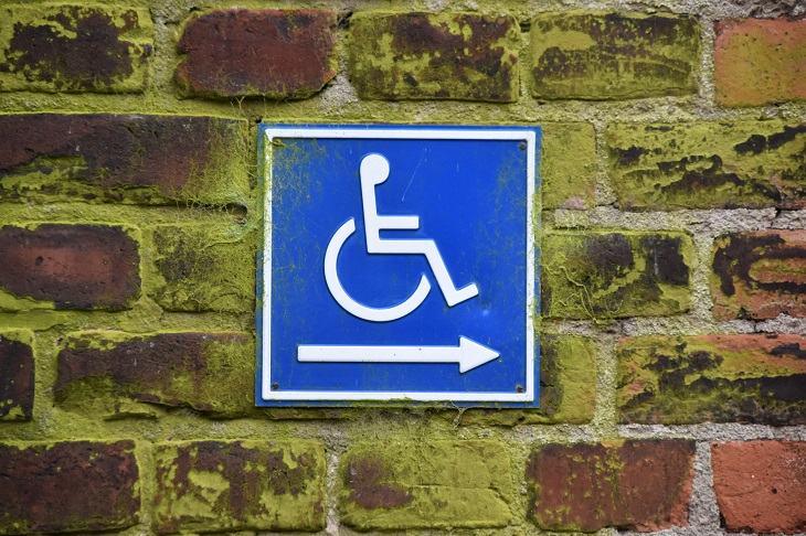 Disabled Parking - accessible parking sign