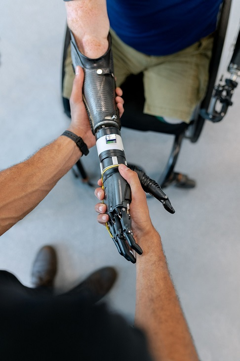 Disabled Parking - prosthetic arm