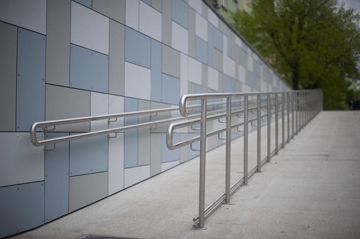 Disabled Parking - concrete wheelchair ramp
