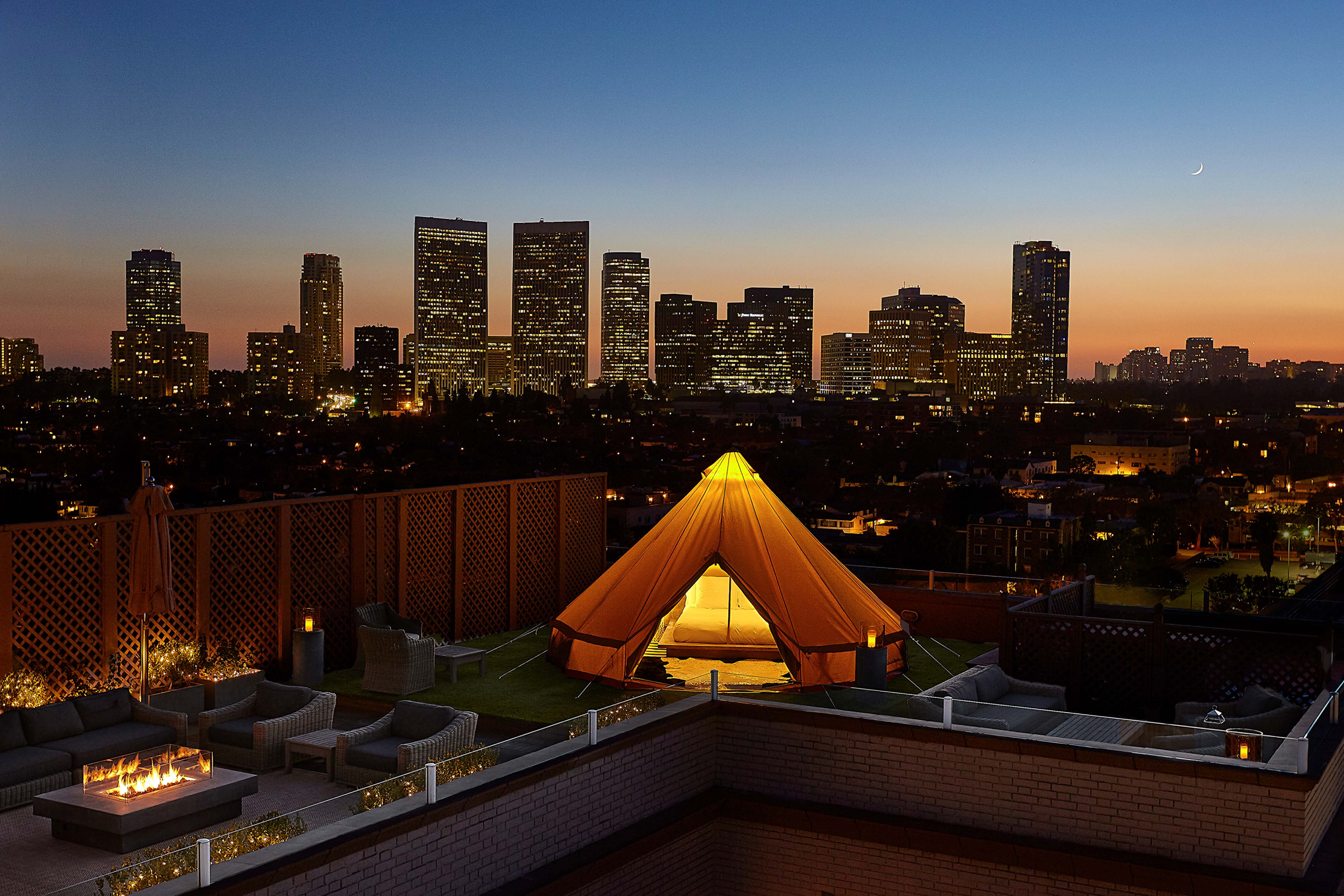 First-Ever Urban Glamping Experience in Beverly Hills, Los Angeles