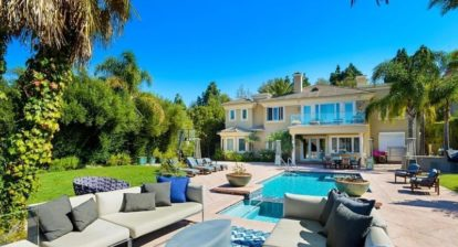 Backyard view of Andrew Kaufman's Beverly Hills Home
