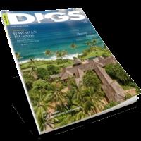 DIGS MAGAZINE COVER - HAWAII EDITION MAGAZINE MOCKUP