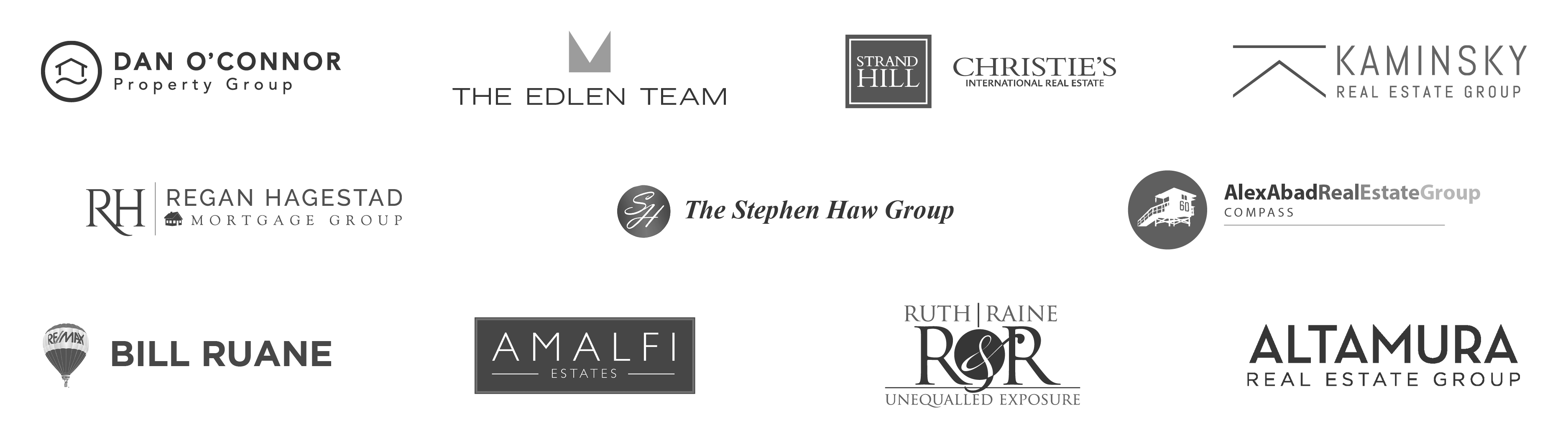Top Agents work with DIGS - Real estate logos
