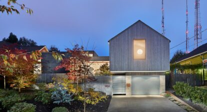 Contemporary home shaped for two