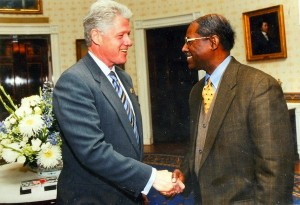 President Bill Clinton with Ronald W. Walters at the White House.