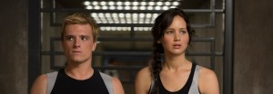 "Josh Hutcherson and Jennifer Lawrence in ""The Hunger Games: Catching Fire."""