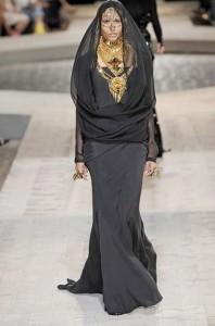 Givenchy's Fall 2009 Islamic burqa-inspired look