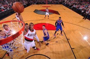 The biggest story leading up to the weekend comes from last season's rookie of the year, Damian Lillard.
