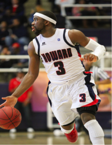 Prince Okoroh entered his junior season as captain with the pressure of having to lead a team featuring nine freshmen both on and off the court.
