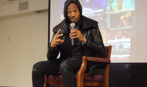 "Marlon Wayans returns to Howard University to talk to students about motivation, life after college and his new film, ""A Haunted House 2."""