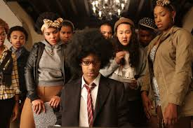"""A scene from the satirical film """"Dear White People."""""""
