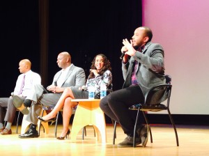 """Justin Simien discusses """"Dear White People"""" after a screening at the Smithsonian Museum in Washington."""